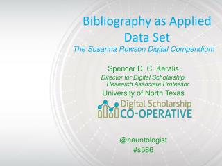 Bibliography as Applied Data Set