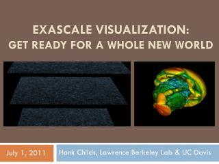 EXASCALE VISUALIZATION: GET READY FOR A WHOLE NEW WORLD