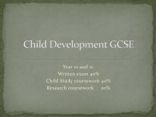 Child Development GCSE