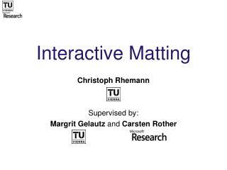 Interactive Matting