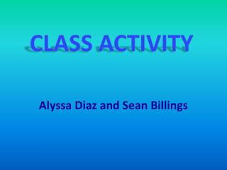 Alyssa Diaz and Sean Billings