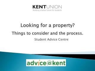 Looking for a property ? Things to consider and the process.