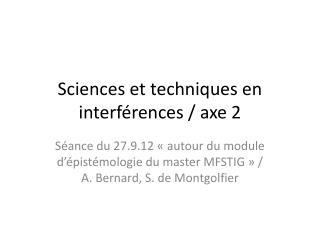 Sciences et techniques en interférences / axe 2