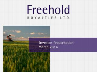 Investor Presentation March 2014