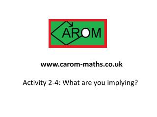 Activity  2-4: What are you implying?