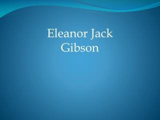 Eleanor Jack Gibson