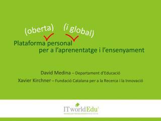 Plataforma personal  per a l'aprenentatge i l'ensenyament
