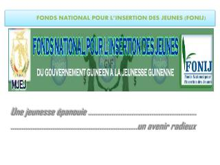 FONDS  NATIONAL POUR L'INSERTION DES  JEUNES (FONIJ)