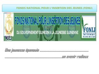 FONDS  NATIONAL POUR L�INSERTION DES  JEUNES (FONIJ)