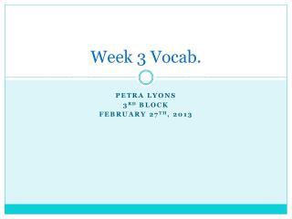 Week 3 Vocab.