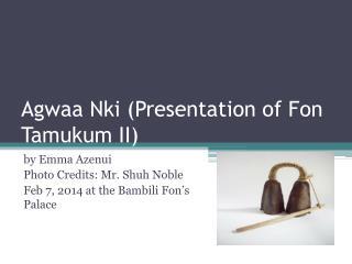 Agwaa Nki  (Presentation of  Fon Tamukum  II)