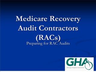 Medicare Recovery Audit Contractors RACs