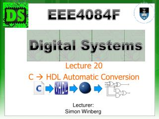 Lecture 20 C   HDL Automatic Conversion