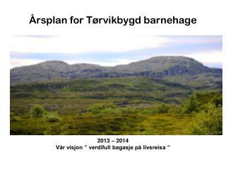 Årsplan for Tørvikbygd barnehage