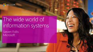 The wide world of information systems