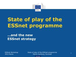 State of play of the ESSnet programme