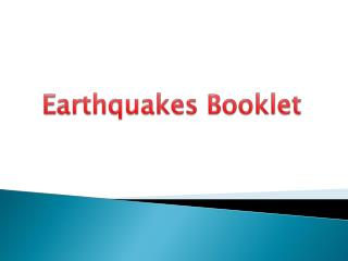 Earthquakes Booklet