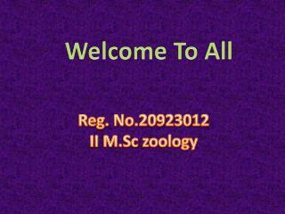 Reg. No.20923012 II  M.Sc  zoology