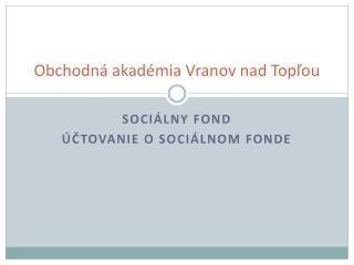 Obchodná akadémia Vranov nad Topľou