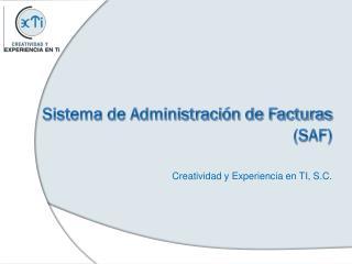 Sistema de Administración de Facturas (SAF)