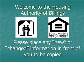 Welcome to the Housing Authority of Billings