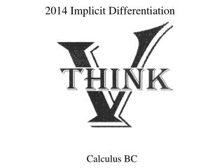 2014  Implicit Differentiation