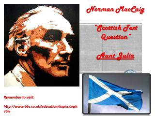 "Norman  MacCaig ""Scottish Text Question"" Aunt Julia"