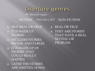 Literture genres