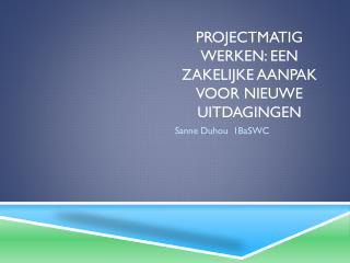 Projectmatig werken: een zakelijke aanpak voor nieuwe uitdagingen