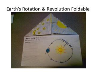 Earth's Rotation & Revolution Foldable