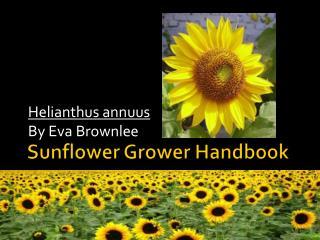 Sunflower Grower Handbook