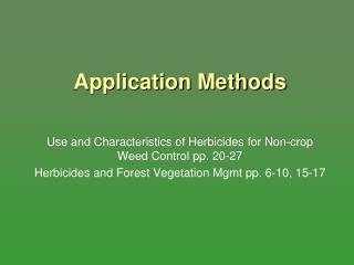 Application Methods