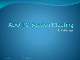 ADO-PO Section Meeting
