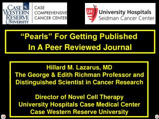 """Pearls"" For Getting Published  In A Peer Reviewed Journal"