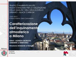 Caratterizzazione  dell'inquinamento  atmosferico  a Milano