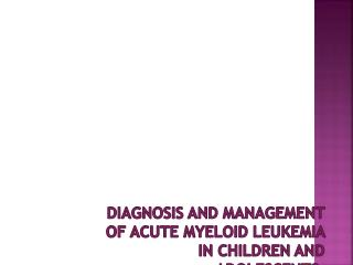 Absence  of published  recommendations specific  for pediatric