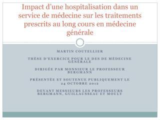 Martin  Coutellier Thèse d'exercice pour le DES de médecine générale