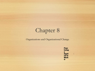 Principles of Change in Organizational Culture