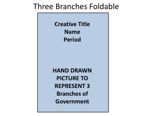 Three Branches Foldable