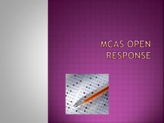 MCAS Open Response
