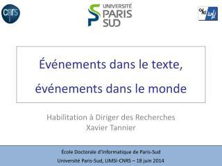 Événements dans le texte, événements dans le monde