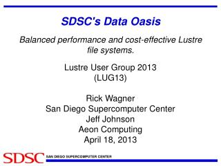 SDSC's Data Oasis