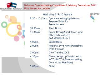 Media Day 5/9/10 Agenda