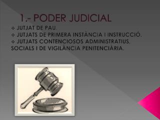 1.- PODER  JUDICIAL