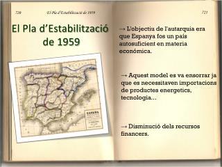 720                           El Pla d'Estabilització de 1959