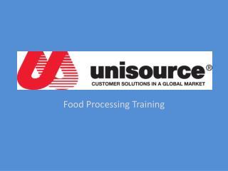 Food Processing Training