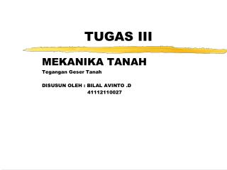 TUGAS III