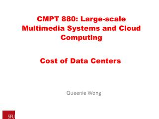 Cost of Data Centers