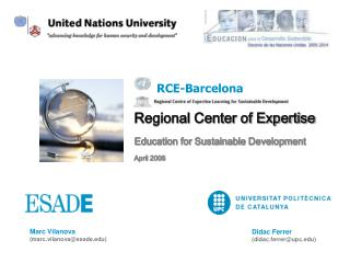 Regional Center of Expertise