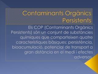 Contaminants Orgànics Persistents